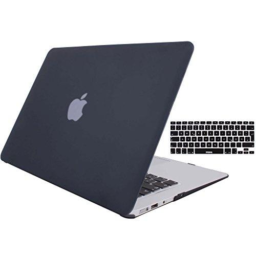 MacBook Air 13 Hülle Case, STONG MacBook Air 13 Hülle Cover Matte Gummierte Harte Schutzhülle für Macbook Air 13\'\' Case Shell Hard Plastik mattiert SchutzTasche + TPU Tastatur-Schutzfolie (Schwarz)