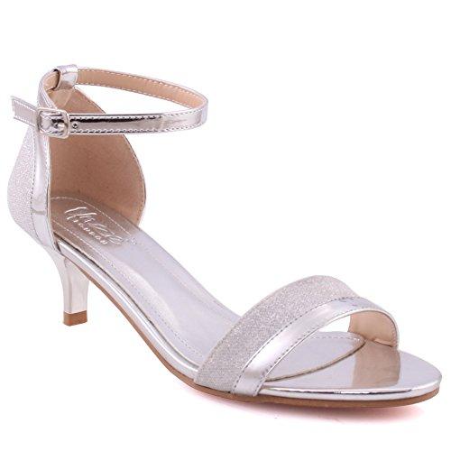Unze Frauen Marie Toe Strap Formale Kätzchen Ferse Kleid Open Toe Täglich Knöchelriemen Geschlossene Fersenkappe Sandalen Größe 3-8 - 126-27 (Kleider Verkauf Spiele)