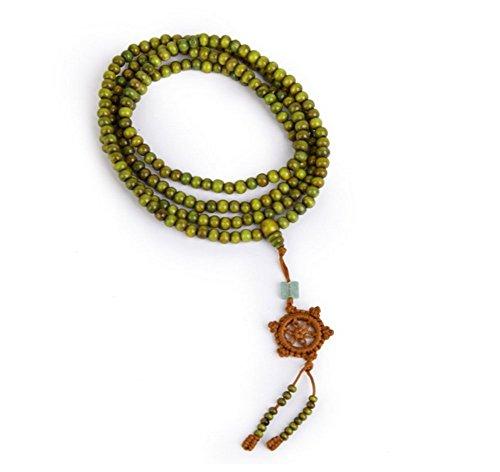 216 pcs 6mm Bracelet Bracelet Bouddha Bracelet Bouddha / Bouddha Bois Bracelet Bracelet Bouddhiste / Bracelet Tibétain Mala Bracelet (vert)