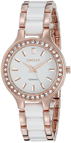 DKNY SPRING 11 ny8141 Stainless Steel Case White Ceramic Mineral Women's Watch