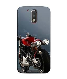 PrintVisa Designer Back Case Cover for Motorola Moto G4 Plus (My Passion Dream Bike Royal Luxxury Antique Poster )