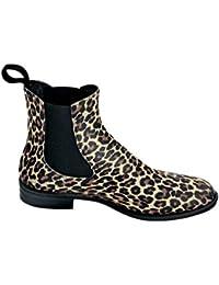 Bockstiegel - Botas de Material Sintético para mujer Negro negro leopardo Talla:41 UE