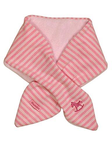maximo Baby-Mädchen Schal 85600-018600, GOTS Steckschal, Fleece, Jersey, Ringel Mehrfarbig (Wildrosemeliert-Zartrosameliert 4174), One Size