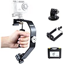 Sevenoak SK-W08 Video Estabilizador de mano para Smartphone, GoPro Hero 3 3+ 4, Canon, Nikon y otra cámara DSLR(Con Adaptador estándar GoPro y el teléfono)
