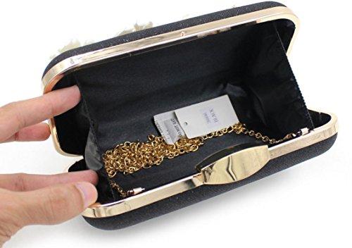Damen Abendtasche Diamantperle Abendessen Paket High-End-volle Diamant-Handtasche Bankett-Paket Black