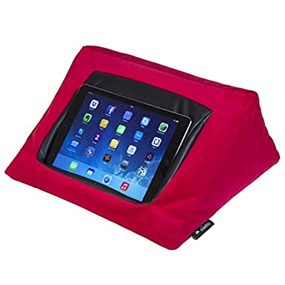 iCushion iPad Cushion Pillow Stand Holder Velvet (RED) Suitable for all Tablet devices. Perfect to use around the home for comfy ipad viewing. Luxurious Material. Helps against iPad RSI and iPad shoulder pains - inexpensive UK light store.