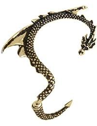 Alchemy Dragon Antique Golden Ear Cuff Earring By Via Mazzini (Right Ear)