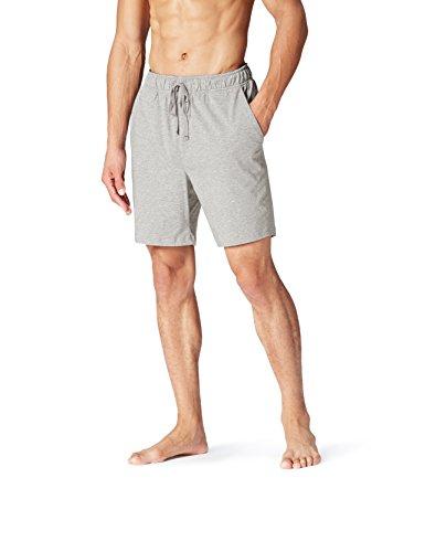 FIND Pantalón Corto de Pijama para Hombre, Gris (Grey Melange), 3X-Large