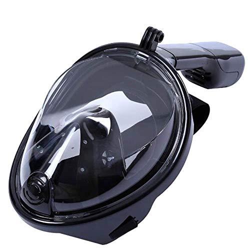 WJQ Schnorchelmaske für Erwachsene Volle Trockentauchausrüstung Outdoor-Schutzbrillen Set Leakproof Anti-Infiltration Einfache Anpassung der Kopfabnutzung für eine Vielzahl von Gesichtstypen