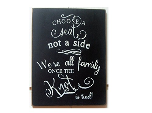 PotteLove einen Sitz Nicht Eine Seite, die Wir Alle Familie, Wenn die Knoten Gebunden ist Hochzeit Rustikal Holz Plank Wandschild Zum Aufhängen