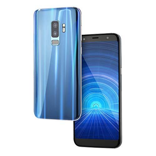 "Smartphone 5.0"" Ultrathin Android 5.1 Quad-Core 512MB+4GB GSM 3G WiFi Dual SIM Camera Smart Cellphone (Blau)"