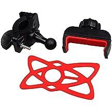 Universal de la motocicleta MTB Bike Manillar de la bicicleta Mount soporte para iPod Teléfono móvil GPS Soporte para iPhone para Samsung, rojo