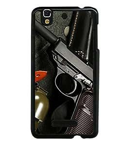 Fuson Designer Phone Back Case Cover YU Yureka Plus :: Yu Yureka PlusYU5510A ( Hand Gun For Action )