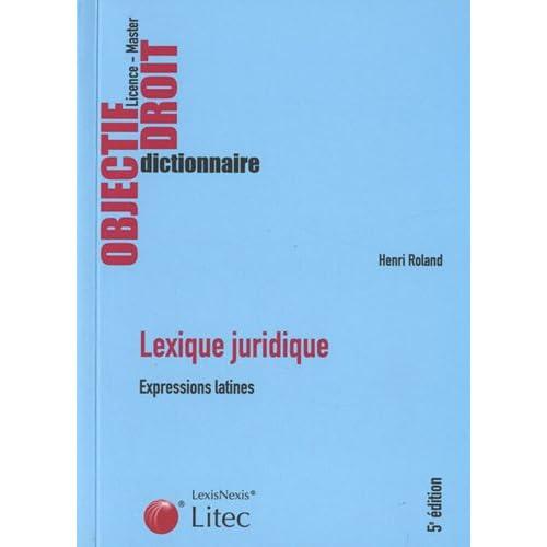 Lexique juridique : Expressions latines