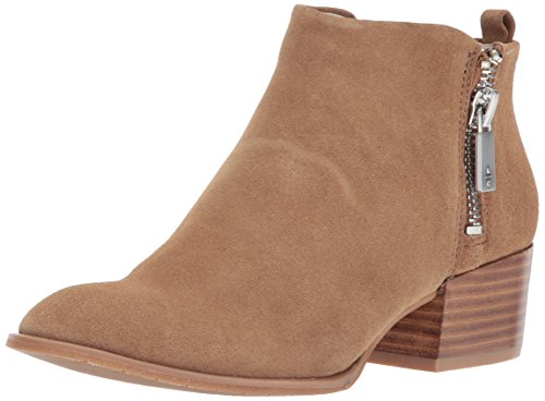 Kenneth Cole New York Women's Addy Western Bootie Double Zip Low Heel Suede Ankle, Almond, 10 M US - Western Booties