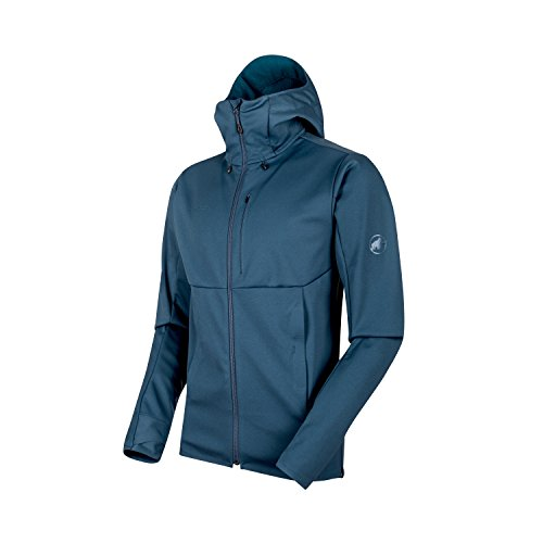 321d66e8c764e8 Mammut Men's Ultimate V SO Hooded Jacket, Jay Melange, Large