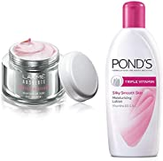 Lakmé Perfect Radiance Fairness Day Creme 50 g & Pond's Triple Vitamin Moisturising Body Lotion, 300ml