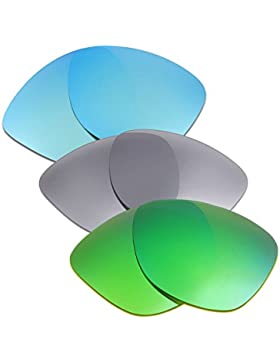 Hkuco Plus Mens Replacement Lenses For Oakley Frogskins Sunglasses Blue/Titanium/Emerald Green Polarized