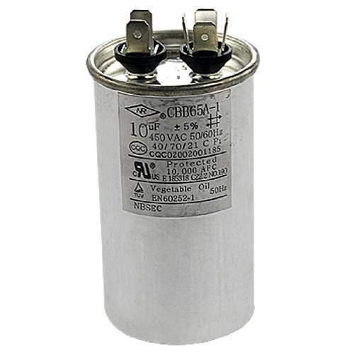 DealMux Air Conditioner Polypropylene Film Motor Capacitor 10uF AC 450V (Air Conditioner Film)