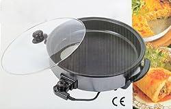 Elektrische Pfanne Ø 42/10cm Pizzapfanne Partypfanne Elektropfanne Bratpfanne