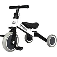 Kiwicool 3 in 1 Kids Tricycles for 1.5-4 Years Old Kids Trike 3 Wheel Bike Boys Girls 3 Wheels Toddler Tricycles (White)