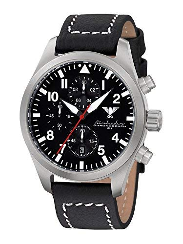 KHS Reloj para Hombre Analógico Cuarzo con Brazalete de Cuero KHS.AIRSC.LBB