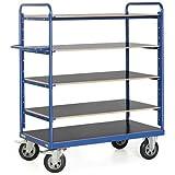 Etagenwagen 400-500 kg, 4 od. 5 Etagen, verschiedene Variationen, Ladeflächen Maß:1200x800; Ladeflächen/Etagen:4 Ladeflächen