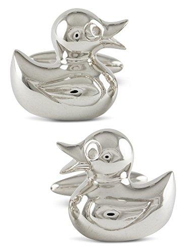 ZAUNICK Badeente Enten Manschettenknöpfe 925er Silber handgefertigt (Bräutigam Badewanne)
