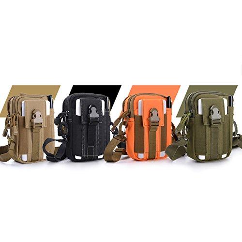 SAMGOO Hüfttasche militär Taktisch MOLLE outdoor gürteltasche Multifunktional für Handy sport Tasche Camping Wandern Armeegrün