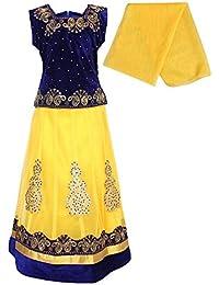 7838be183b2621 Amazon.in: Yellows - Lehenga Cholis / Ethnic Wear: Clothing ...