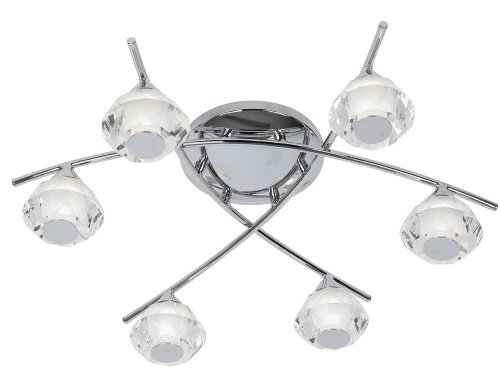 Meissa-Lampadario-da-soffitto-per-bagno-6-x-lampadine-G9-cromo-lucido