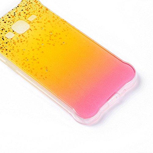 Coque Samsung Galaxy J3 Glitter, Samsung Galaxy J3 2016 Coque Brillante, SainCat Ultra Slim TPU Silicone Case pour Samsung Galaxy J3/J3 2016, Glitter Bling Diamante Strass Anti-Scratch Soft Gel 3D Hou Plage de Sable