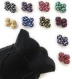 GENTLEMAN: 10 hochwertige multicolor Seidenknoten Manschettenknöpfe