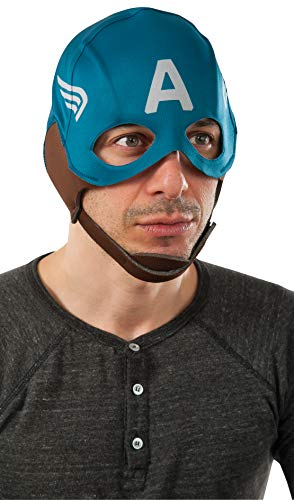 Captain America Retro Maske für Erwachsene (Marvel Captain America Für Erwachsene Herren Kostüm)