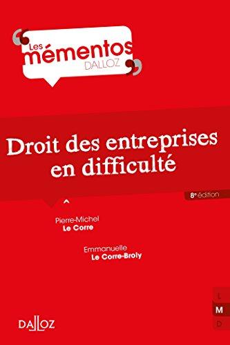 Droit des entreprises en difficult - 8e d.