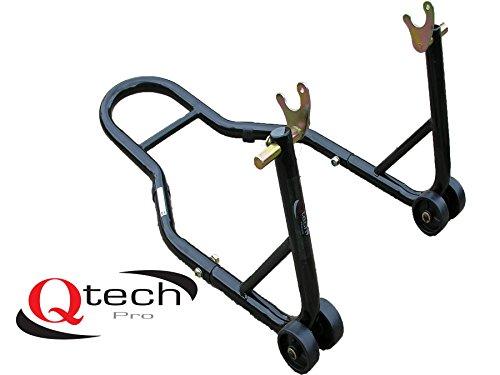 Qtech Motorrad Hinterrad V-Aufnahme MONTAGESTÄNDER für Prismabuchsen Werkstatt universelle Passform mit 200kg Hubkapazität Lenkkopf Heber Track