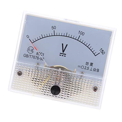 LOVIVER Misuratore Voltmetro Analogico A Pannello Analogico Calibro 85C1 DC 0-50 Volt Current Tester - 0-150V