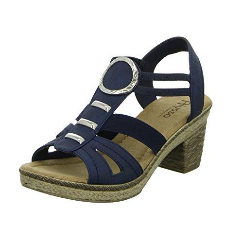 Alyssa A591-41 Damen Sandalette eleganter Boden Blau (Blau)