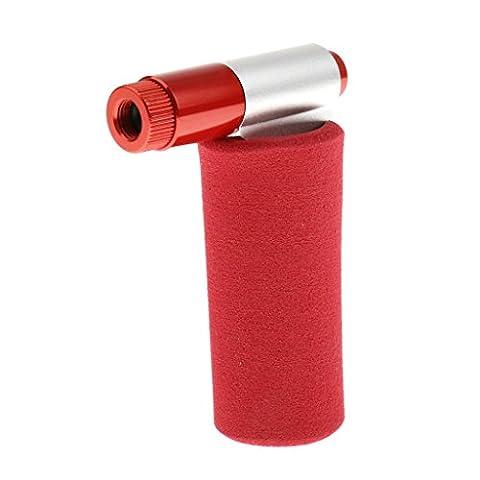 Generic Tragbare CO2 Fahrrad Reifenpumpe / Reifenfüller - Rot