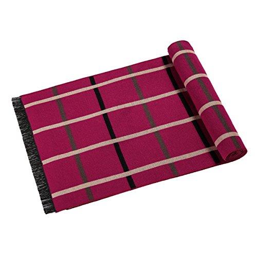 mode Hommes Femmes cachemire casual écharpe brossé foulards à carreaux red