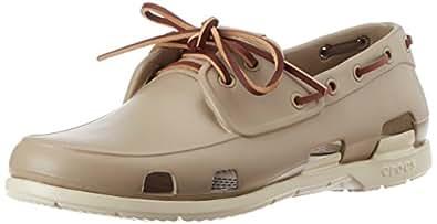 Crocs Men's Beach Line Men Tumbleweed and Stucco Rubber Sneakers - M11 (14327-2G6)