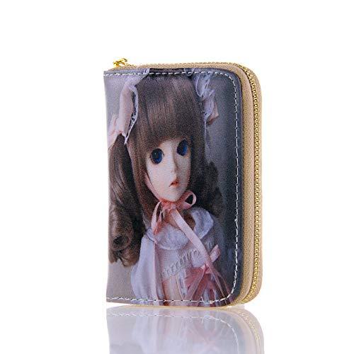 S-Puppe niedlich Brieftasche mädchen Mode Brieftasche super weich pu fühlen hd Druck Prinzessin Handtasche Muster 13