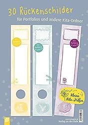 30 Rückenschilder für Portfolios und andere Kita-Ordner (Kleine Kita-Helfer)