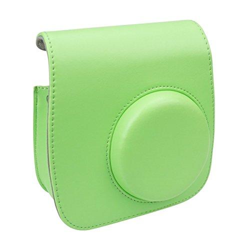 ax Mini 8 Kameratasche für Fujifilm Instax Mini 8 / Mini 8 + / Mini 9 Instant Kamera mit verstellbarem Armband (Lime Green) (Kundenspezifische Geschenk-taschen)