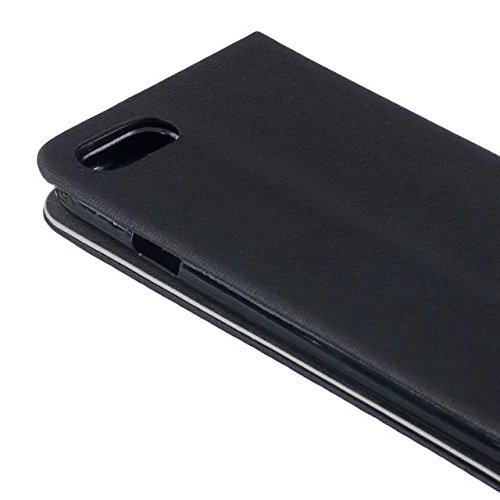 iPhone Case Cover Mélange de couleur Premium PU Leather Case Portefeuille Stand Case Flip Stand Coque de protection pour IPhone 7 Plus ( Color : Dark Blue , Size : IPhone 7 Plus ) Black