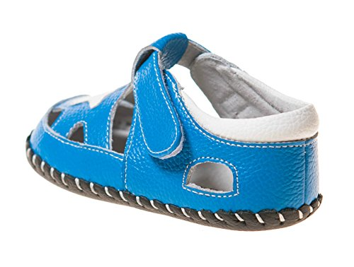 Little Blue Lamb chaussures de bébé Chaussures premiers pas Sandales bleu blanc Etoile - Bleu-Blanc, 6-12 Mois Bleu-Blanc