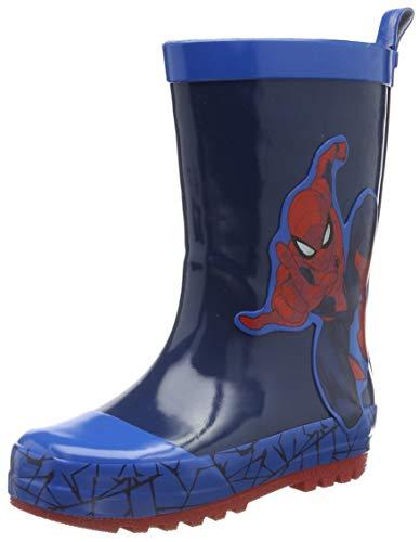 Spiderman Jungen Boys Kids Rainboots Boots Gummistiefel, Blau (Navy Cobalt Blue 831), 25 EU