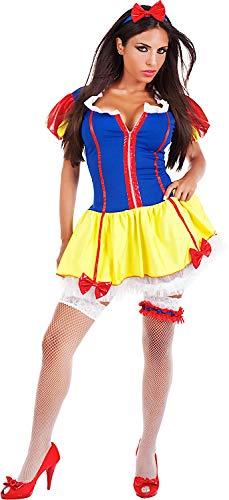 73c2f4bedb6b Costume di Carnevale da Biancaneve Sexy Vestito per Donna Adulti  Travestimento Veneziano Halloween Cosplay Festa Party