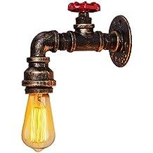 Water Pipe Wandleuchte, Vintage Retro Wasser Rohr Licht Retro Nostalgie Industrie Wand Lampen Dekor Wandleuchte ohne Lampen