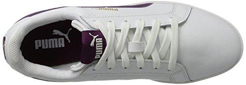 Puma Smash L, Sneakers Basses Femme Blanc (White-dark Purple)
